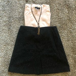 H&M Speckled Wool Skirt